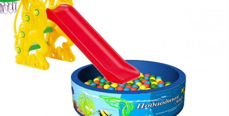 "Горка ""Петушок"" + бассейн с шариками"