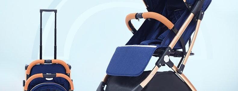 Коляска-чемодан Tianrui (синий)