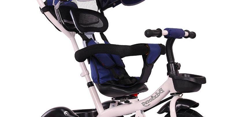 Велосипед-коляска синий