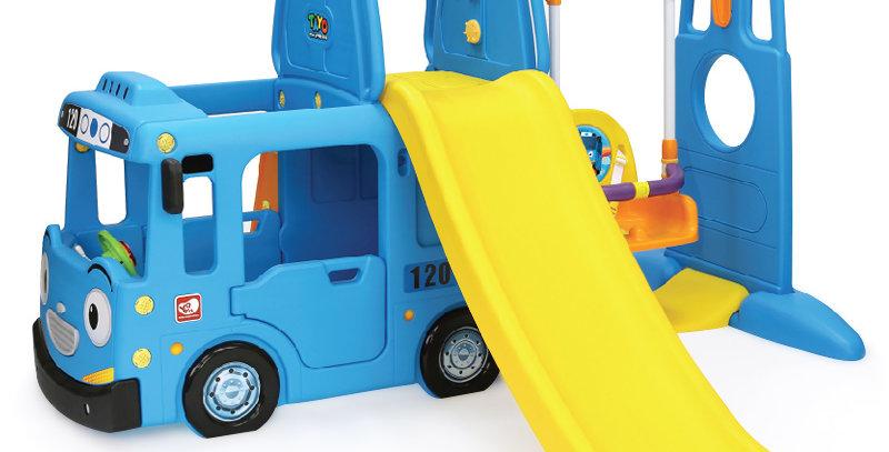 Игровой комплекс автобус тайо с качелями синий