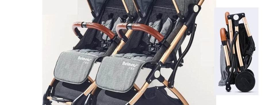 Коляска-чемодан для двойни Beimens (серый)