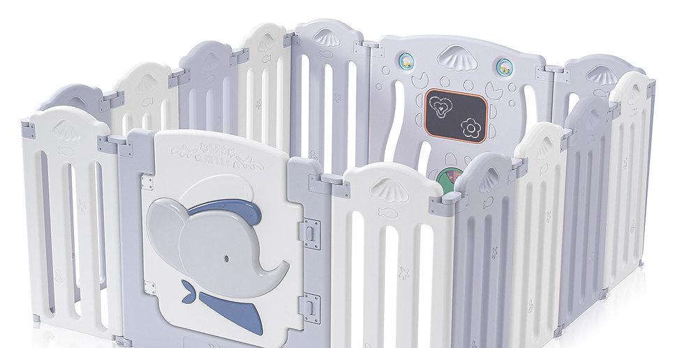Манеж забор ограждение  Baby Vivo серо-белый