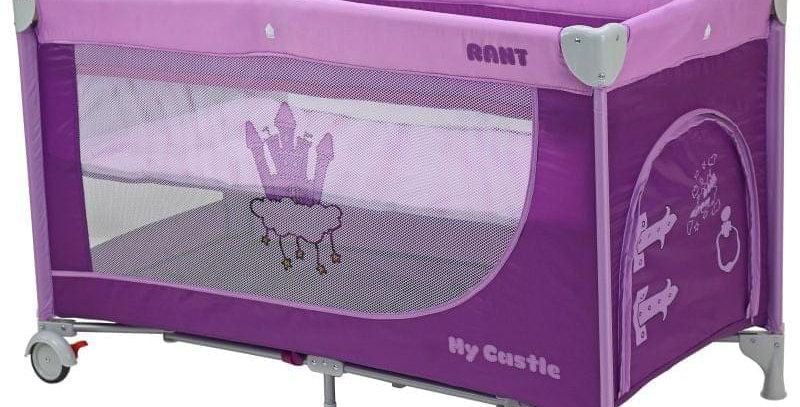 """Манеж-кровать Rant """"My Castle""""; фиолетовый"""