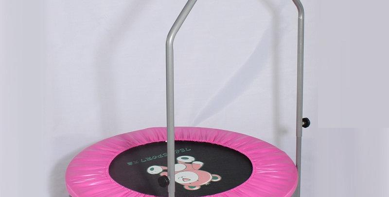 Батут с ручкой Techsport розовый