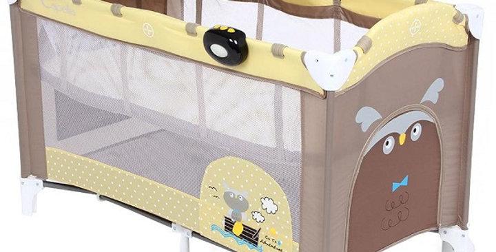 "Манеж-кровать ""Capella Sweetжелтый/коричневый"