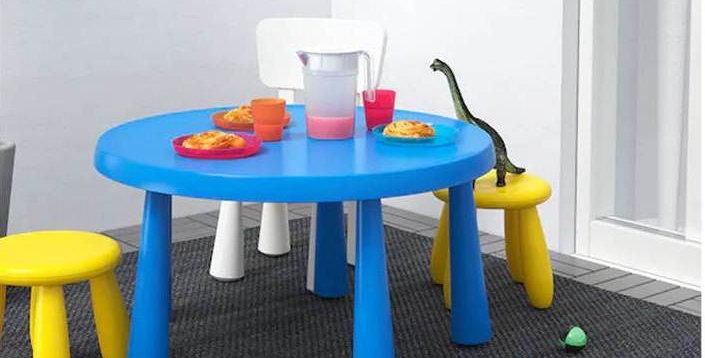 Круглый стол Mammut цвет синий