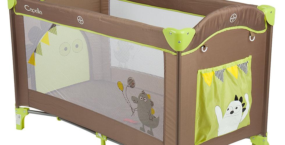 Манеж-кровать Capella Sweet коричнево/зеленый