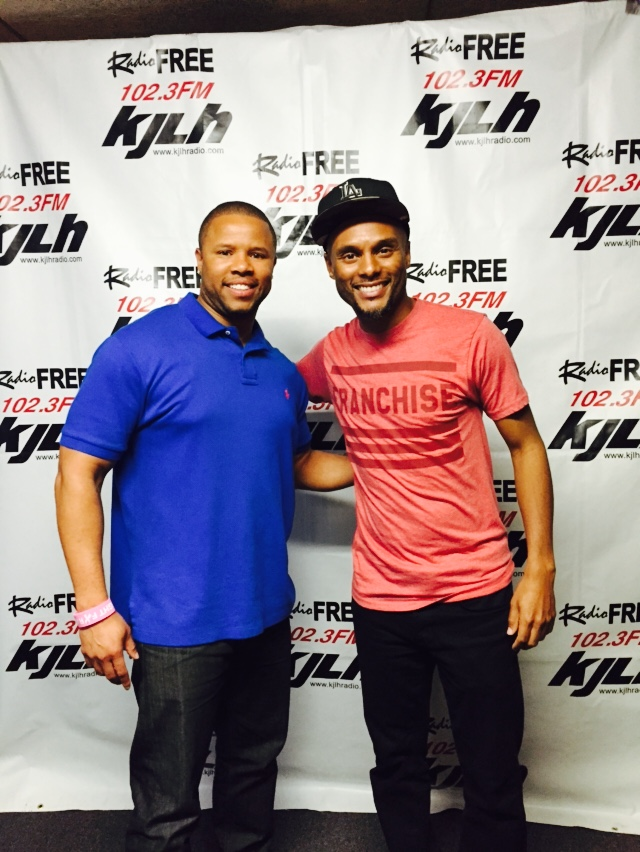 w/ Kenny Lattimore at KJLH Radio