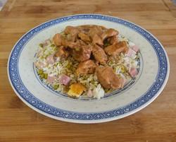Porc au caramel et riz cantonnais