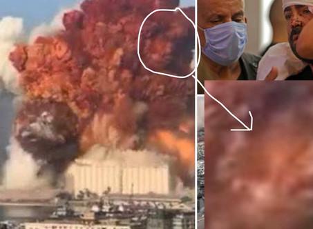 Evil face in Beirut Blast