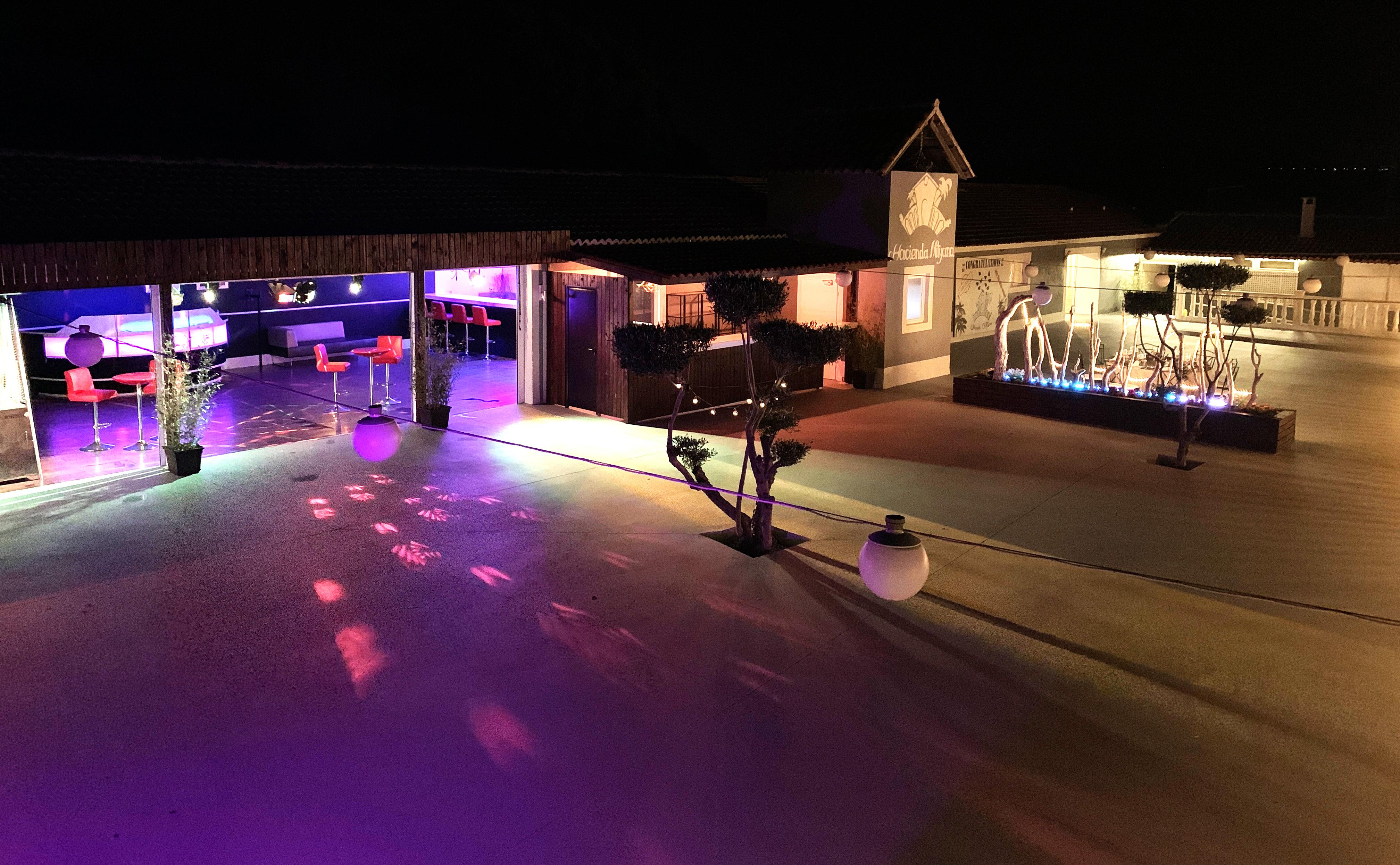 Hacienda Mityana - Eventos - terraza noche