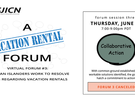 Forum 3 Webinar Canceled