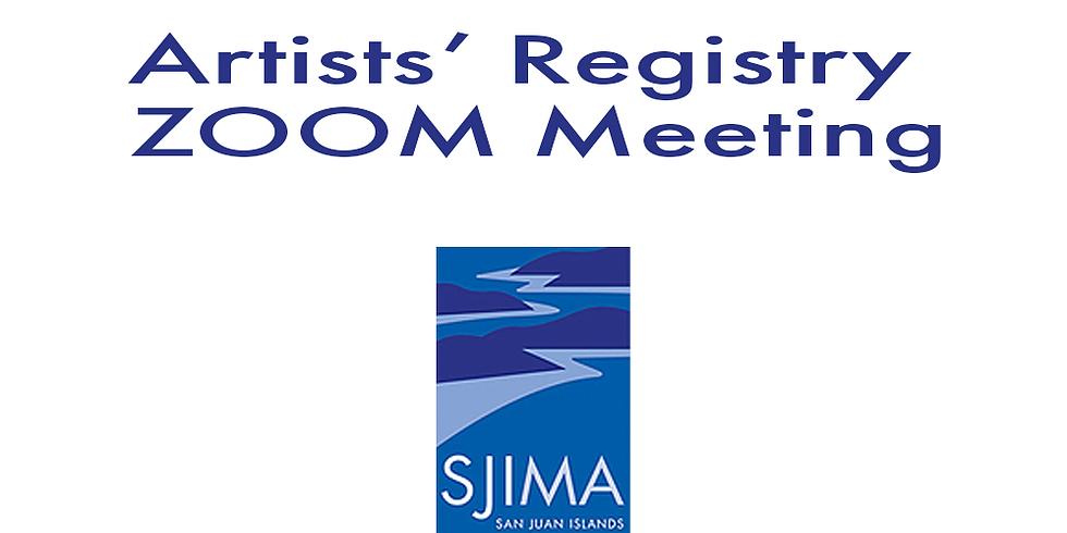 Artists' Registry Artist Statement Zoom Meeting