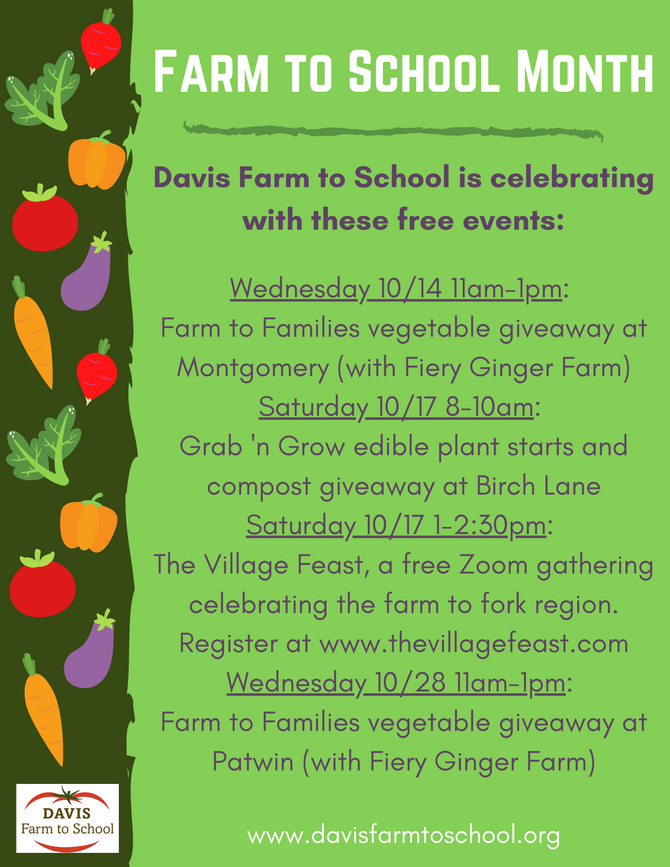October is Farm to School Month!