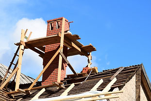 Chimney Being Built
