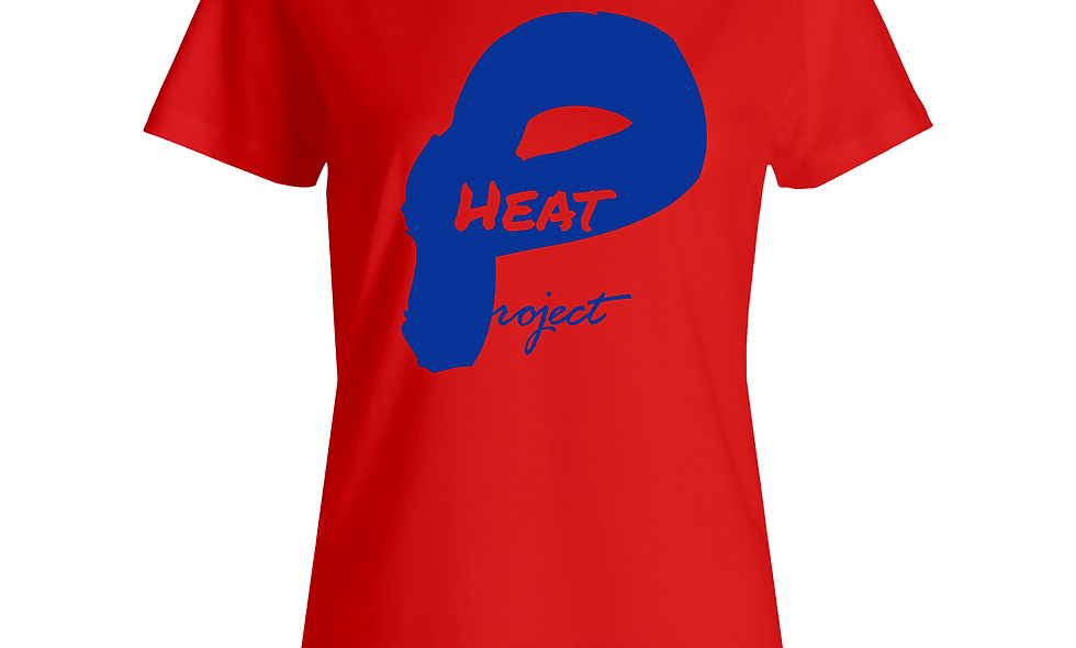 Female  Red and Blue Logo Tee