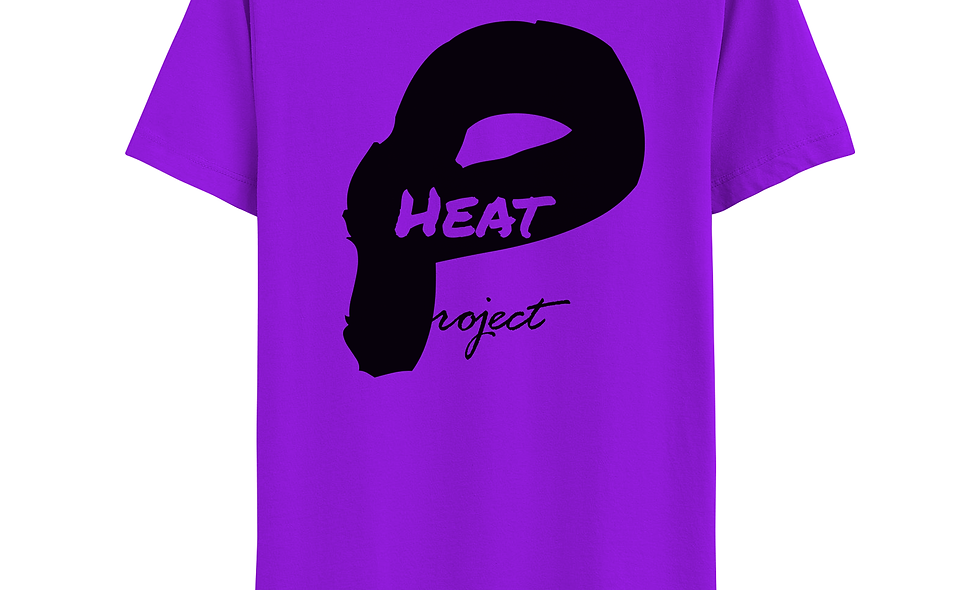 Purple and Black Logo Tee