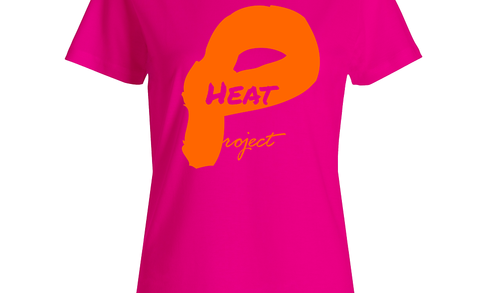 Female Pink and Orange Logo Tee