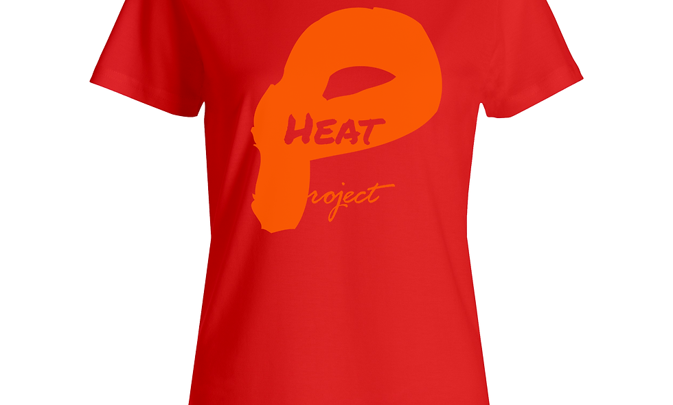 Female Red and Orange Logo Tee