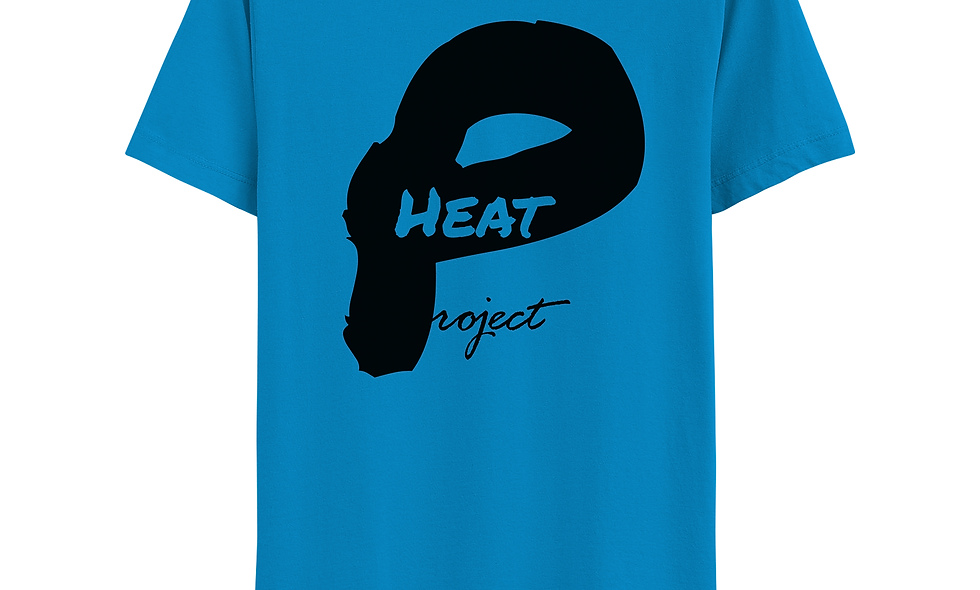 Electric Blue and Black Logo Tee