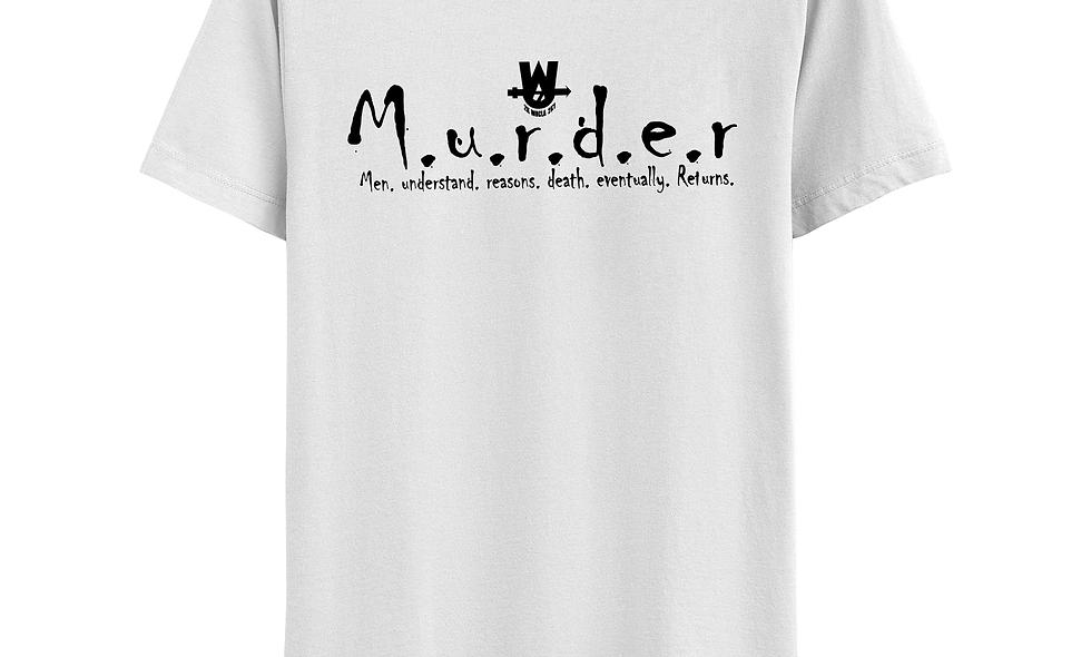 White and Black MurderLogo Tee