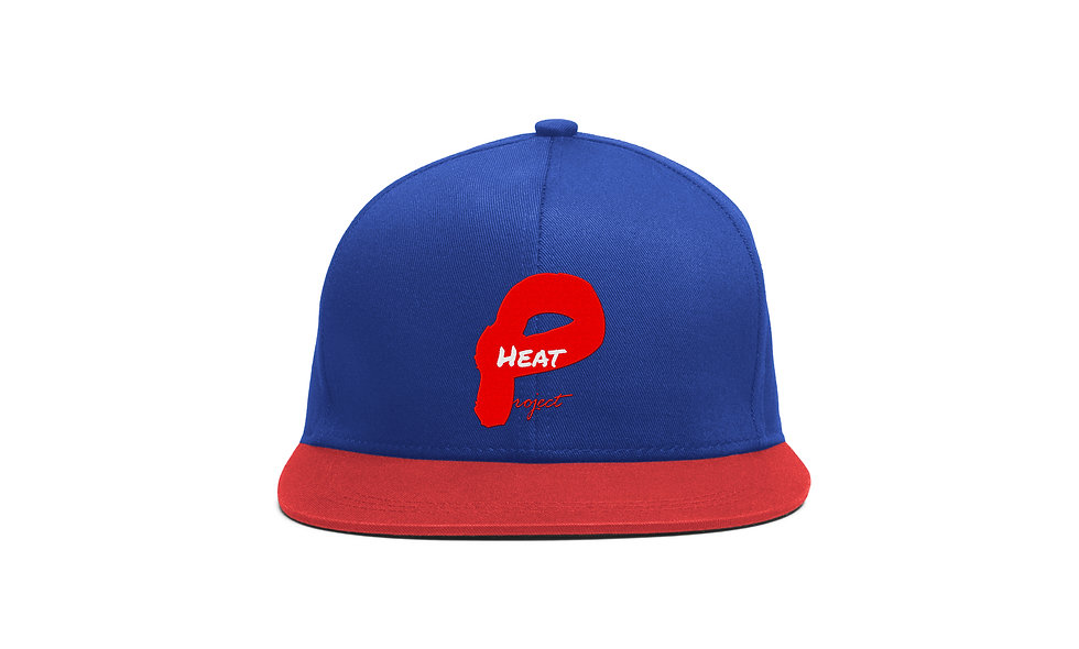 Blue and Red Project Heat Snapback