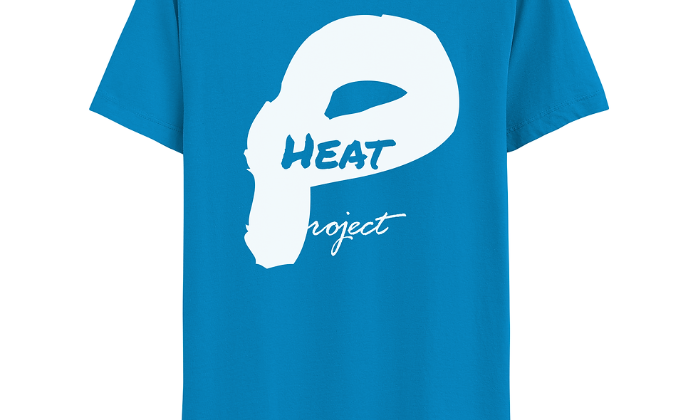 Electric Blue and White Logo Tee