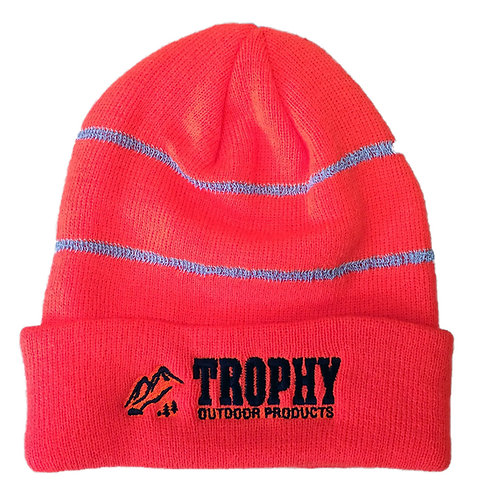TROPHY Reflective Knit Hat (Neon Orange)