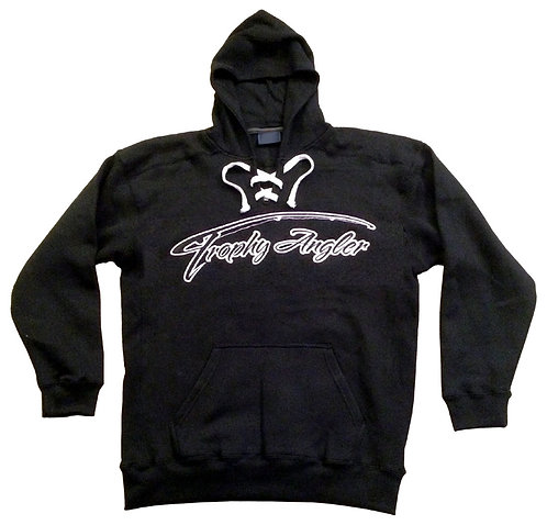 Trophy Angler White Logo Sport Lace Hoodie