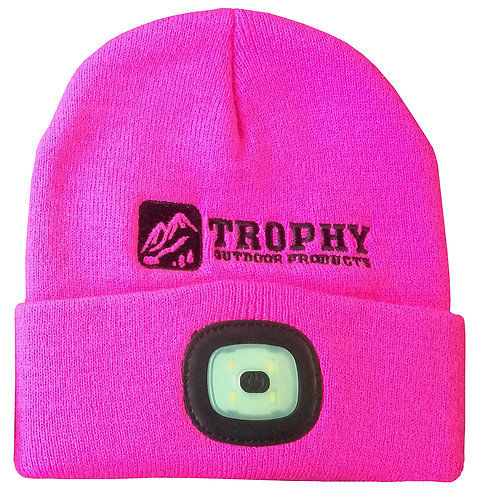 200 Lumen Rechargeable LED Knit Hat (Pink)