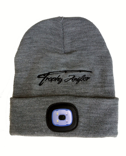 200 Lumen Rechargeable LED Knit Hat (Grey)