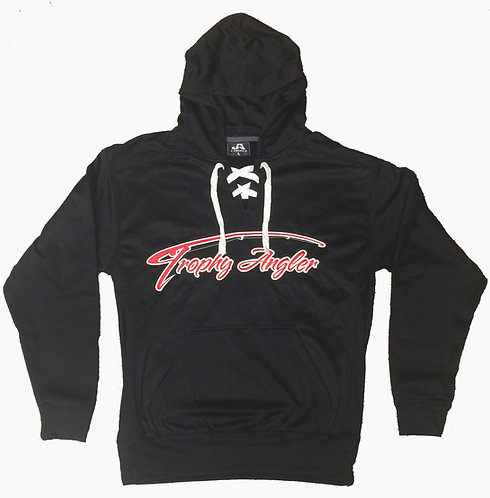 Trophy Angler Red Logo Performance Hoodie