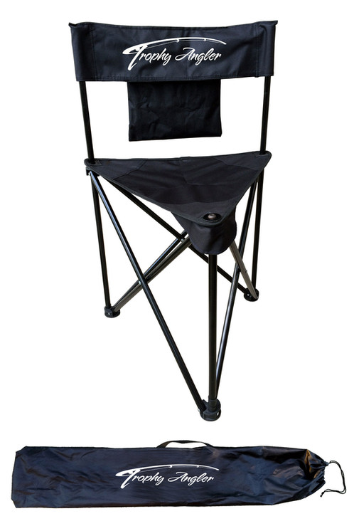 The Trophy Angler Magnum 3 Leg Folding Chair Features A Heavy Duty Steel  Tubing And 600D Double Layer PVC Non Crack Fabric Construction With Powder  Coat ...