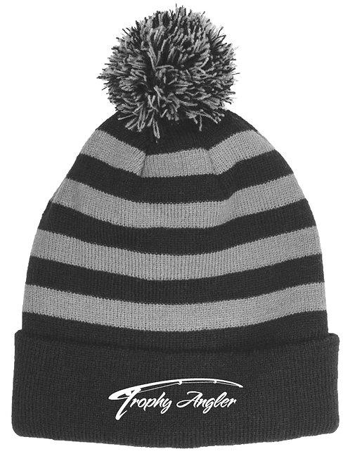 Striped Knit Beanie Hat