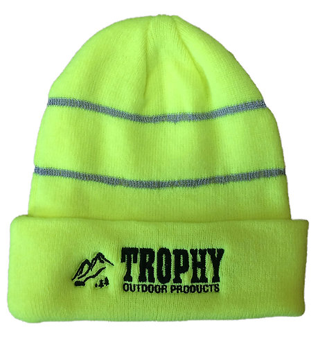 TROPHY Reflective Knit Hat (Neon Yellow)