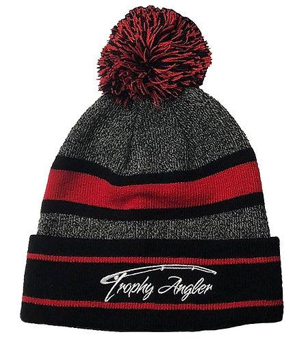 Pom Winter Hat (Grey/Red)
