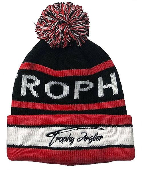 Pom Winter Hat (Black/Red)
