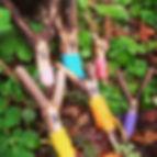 Easter stick bunny's with preschool toda