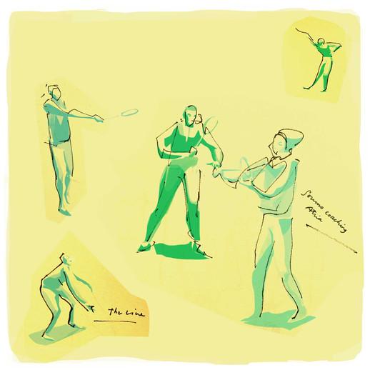 friends: badminton