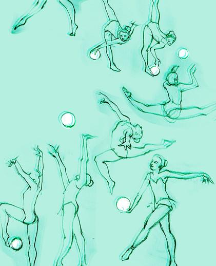 gestures: rhythmic gymnastics
