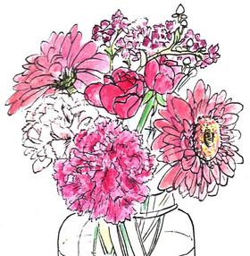 Flower in watercolor