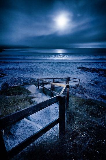Midnight Moon at Hushinish