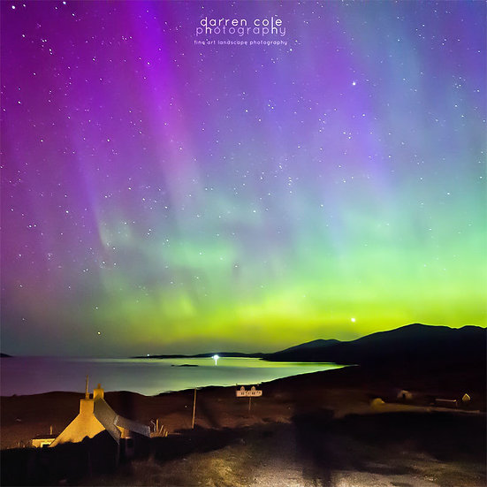 Ardhasaig Aurora 3 - Isle of Harris - Darren Cole Photography