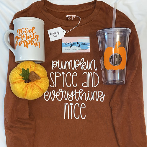 """Pumpkin Spice"" Long Sleeve T-Shirt"