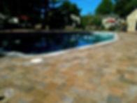 paver pool overlay