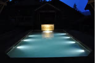 Underwater lighting in pool