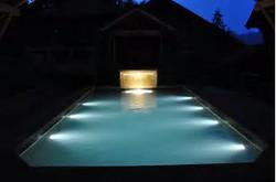 Underwater lighting in pool