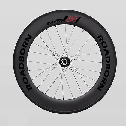 Roue carbone artisanale, roue vélo de route, roue carbone, dt swiss,jante patin  - RAPTOR 88  triathlon, contre la montre