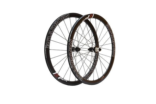 Roues roadborn, 38mm, roues carbone artisanales