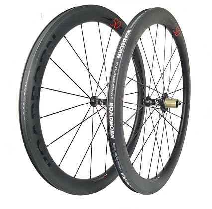 Roadborn, roue carbone artisanale, roue cyclo-cross, roue vélo carbone, roue carbone DT swiss